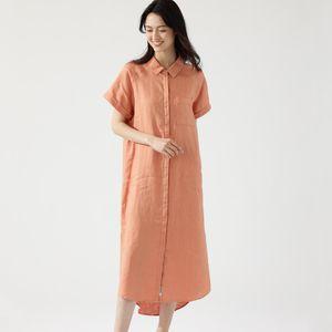 LYCHEE ショートスリーブ シャツドレス / LYCHEE DRESS WOMAN