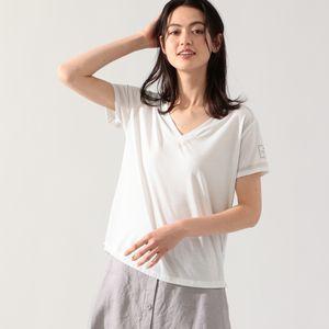 MOON Vネック プリントTシャツ / MOON T-SHIRT WOMAN