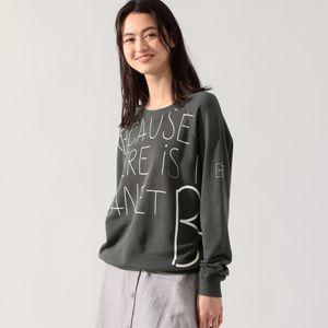 BECAUSE レタリング スウェットシャツ  / BECAUSE HANDWRITTEN SWEATSHIRT