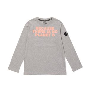BECAUSE キッズTシャツ / NATAL BECAUSE PRINT CHEST ORANGE FLUOR TS KIDS