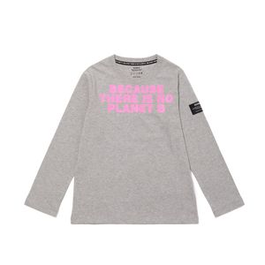 BECAUSE キッズTシャツ / NATAL BECAUSE PRINT CHEST PINK FLUOR TS KIDS
