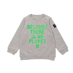 BECAUSE キッズスウェット / SAN DIEGO BECAUSE FLUOR GREEN SWEATSHIRT